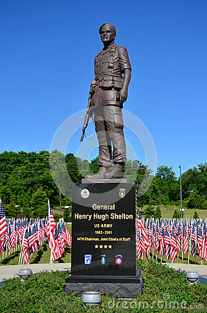General Henry Hugh Shelton US Army Statue Editorial Photo