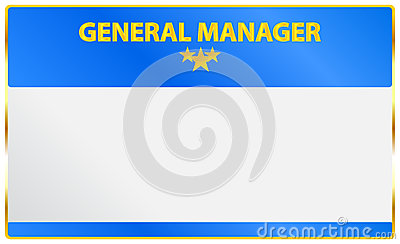 General Manager Card