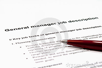 General Manager Job Description Royalty Free Photos Image – General Manager Job Description