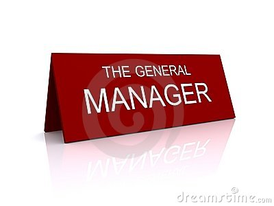 General Manager sign