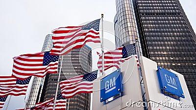 General Motors Redaktionell Arkivbild