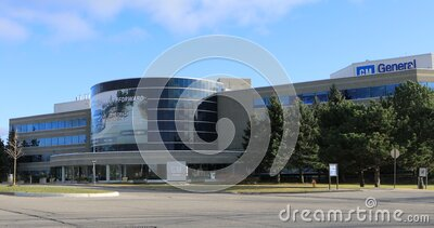 General Motors headquarters at Oshawa, Ontario, Canada 4K. The General Motors headquarters at Oshawa, Ontario, Canada 4K stock footage