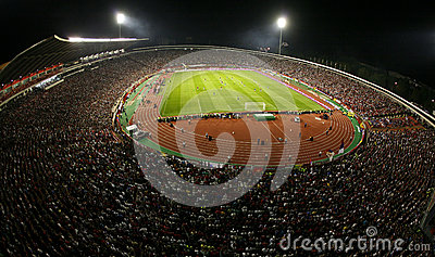 General overview of the Red Star Belgrade stadium Editorial Stock Photo