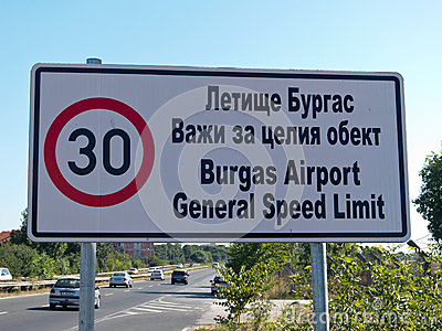 General speed limit Editorial Stock Image
