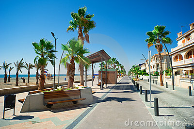 General street view in Costa Blanca