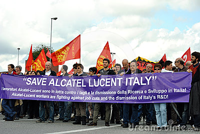 General strike Editorial Image