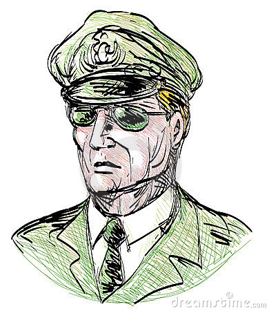 General with sunglasses