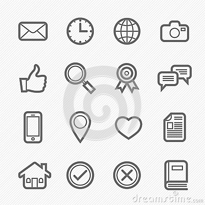 Free General Symbol Line Icon On White Background Royalty Free Stock Photo - 32714105