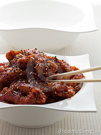 General tso chicken meal