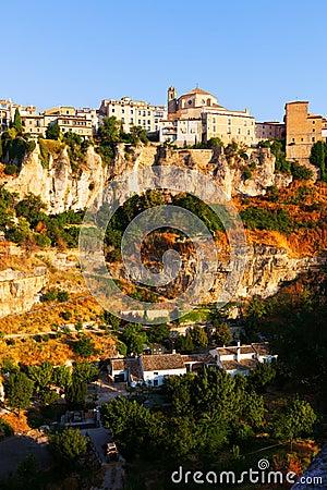 General view of Cuenca  in sumer