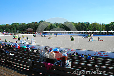 General view of the event site Editorial Stock Image
