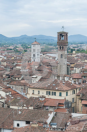 General View of Lucca in Tuscany, Italy