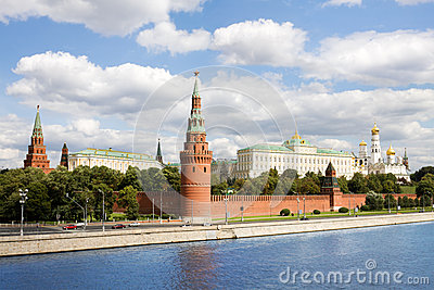 General view at Moscow kremlin in Russia