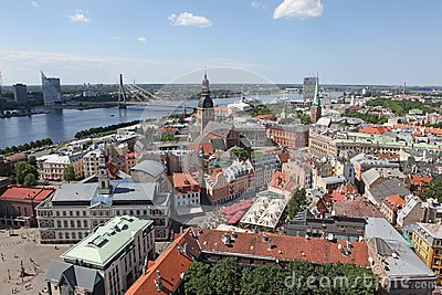 The general view of Riga