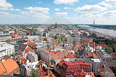General view of Riga, Latvia