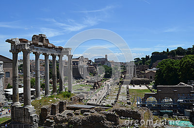 General view of the Roman Forum