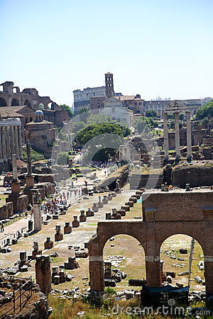 General view of Roman Forum