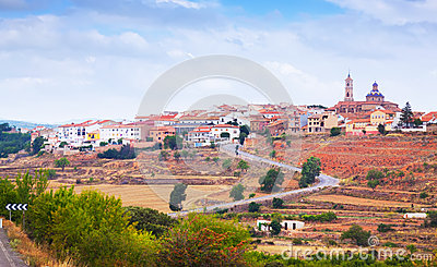 General view of Sarrion in province of Teruel