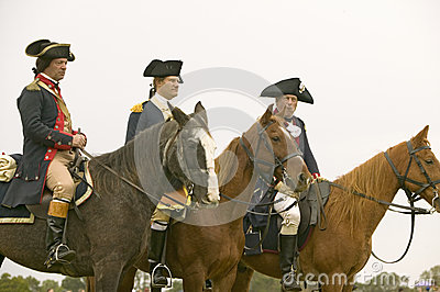 General Washington waits with staff Editorial Stock Photo