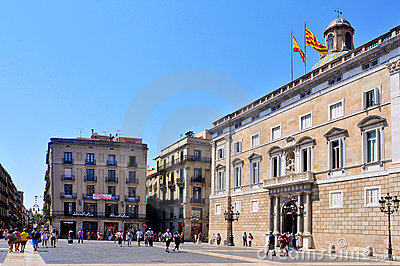 Generalitat of Catalonia Palace in Barcelona Editorial Stock Image