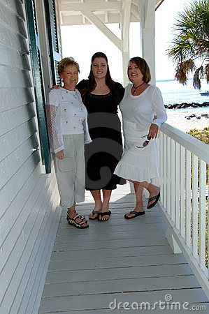 Generations of women on porch