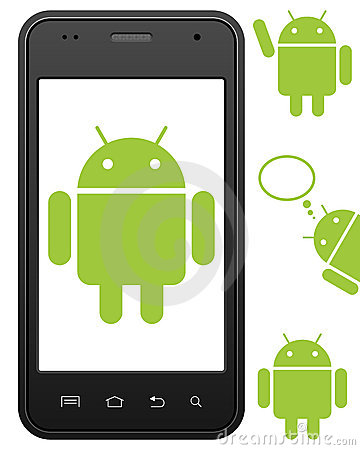 Generic Android Cell Phone Editorial Stock Photo