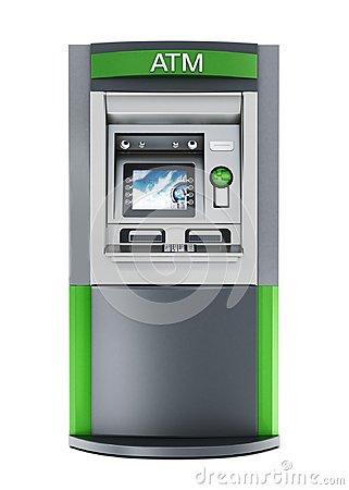 Free Generic ATM Or Automated Teller Machine. 3D Illustration Stock Photos - 114328513