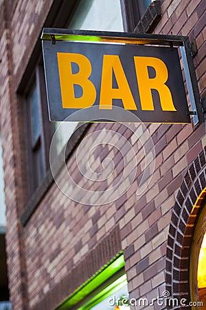 Free Generic Bar Sign Royalty Free Stock Image - 27410206