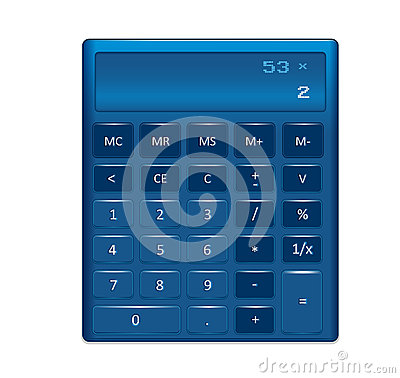 A generic electronic calculator illustration