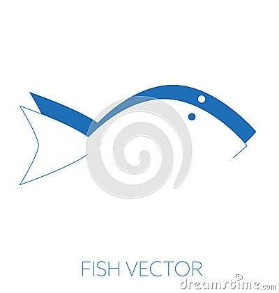 Generic fish minimal vector illustration Vector Illustration