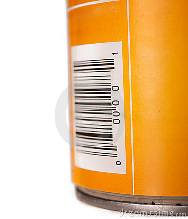Free Generic Food Tin Can With Bar Code Royalty Free Stock Image - 15595566