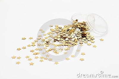 Generic gold star glitter.