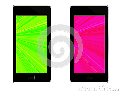 Generic mobile phone devices - white background