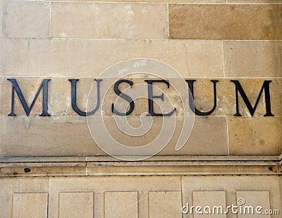 Generic museum sign