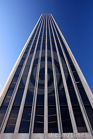 Generic office Tower rising into the Blue Sky