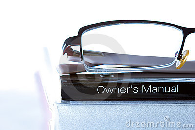 Generic Owner's Manual. Stock Photography - Image: 20253962
