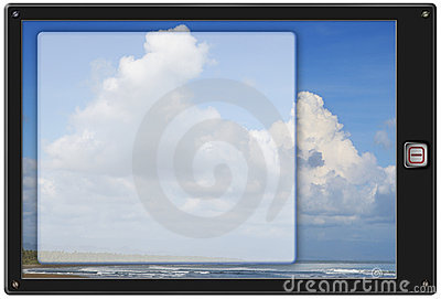 Generic Pad Tablet W Background Royalty Free Stock Images - Image: 12951649