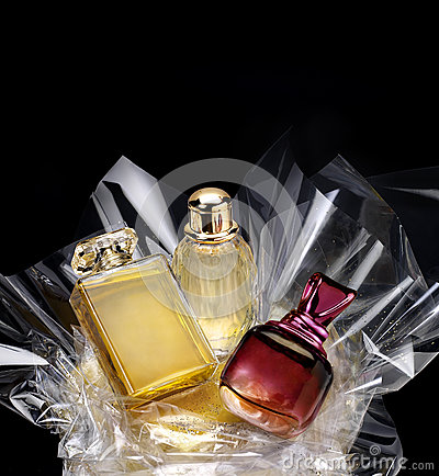 Free Generic Perfume Bottles In A Gift Set Stock Photos - 34502143
