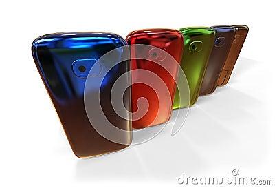 Generic smartphones (with shadow)