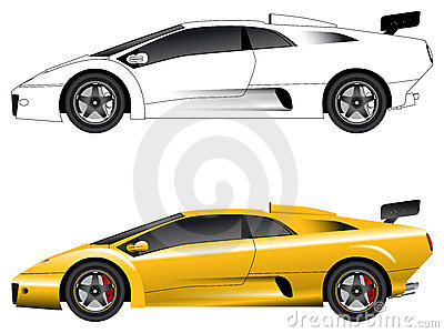 Generic sports car vector
