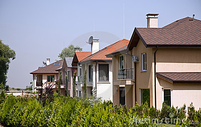 Generic suburban family houses