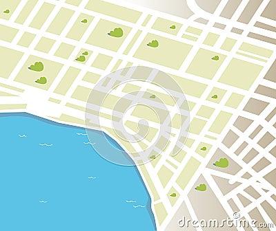 Generic vector city map