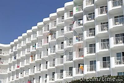 Generic white tourist hotel