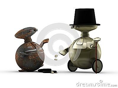 Generous robot gentleman