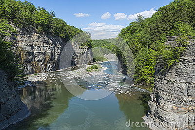 The Genesee River Valley At Letchworth State Park