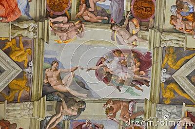 Genesis - sistine chapel, michelangelo buonaroti Editorial Photography