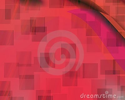Genetic Art Phantom Squares Red