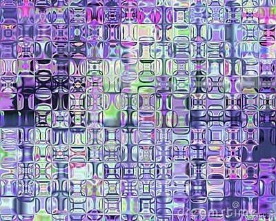 Genetic Art Psychedelic Glass Blocks Violet