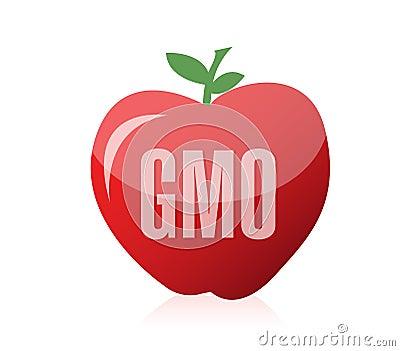 Genetically modifies plants illustration design