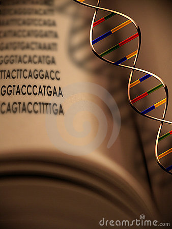 Free Genetics And DNA The Book Of Life Royalty Free Stock Photo - 499375